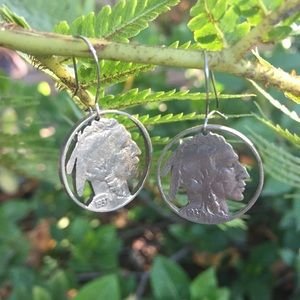 Buffalo Nickel Vintage Earrings